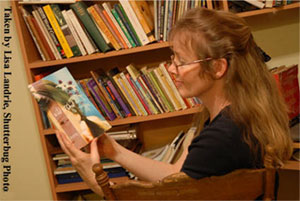 Photo of Beverley Brenna reading - photo credit: Lisa Landrie, Shutterbug Photo