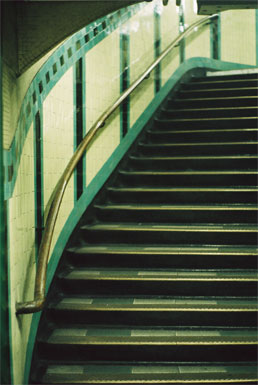 Russell Square Stairs, Kate's modern London