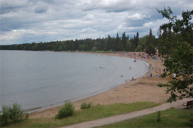 Waskesiu Lake in Prince Albert National Park