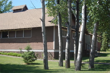 The Community Hall at Waskesiu where the fictional scenes of the Pinter Play occurred