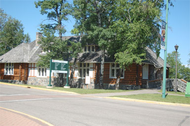 The Waskesiu Nature Centre, fictionalized to include the Bookstore in Wild Orchid